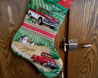 Christmas Stocking with Chevrolet Trucks  Print