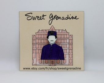 "The Grand Budapest Hotel ""ZERO"" Shrink Plastic Brooch"