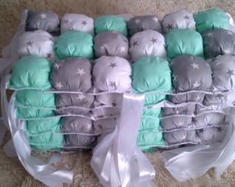 Baby crib bumper, Crib bedding set, Bubble Pillows