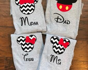 Family Disney Shirts - Personalized Disney Shirts for Family Shirts Matching Disney Shirts Disney Family Vacation T-shirts / Disney shirts