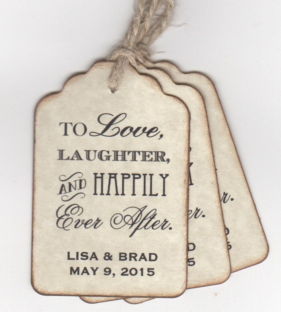 Gift Tags For Wedding Favors: 50 CUSTOM Personalized Wedding Favor Tags Shower Favor Tags To