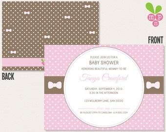 Pretty Bows Baby Shower Invitation
