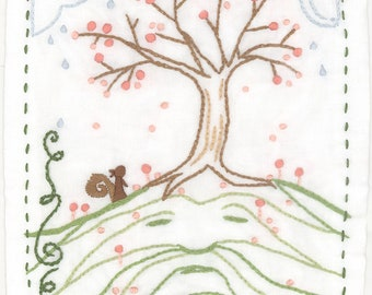 DIY Hill Man embroidery pattern PDF download hand embroidery patterns designs