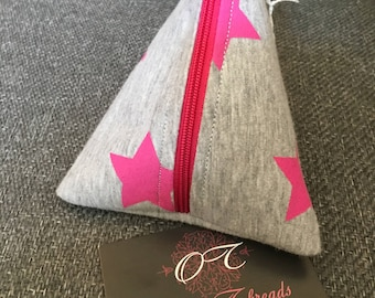 Triangle Pink Star Purse