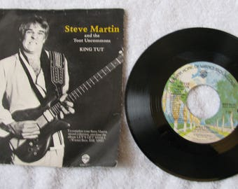 Steve Martin Comedian Comedy And The Toot Uncommons Band King Tut Sally Goodin 45 RPM Music Record And Sleeve Warner Brothers Label 1978