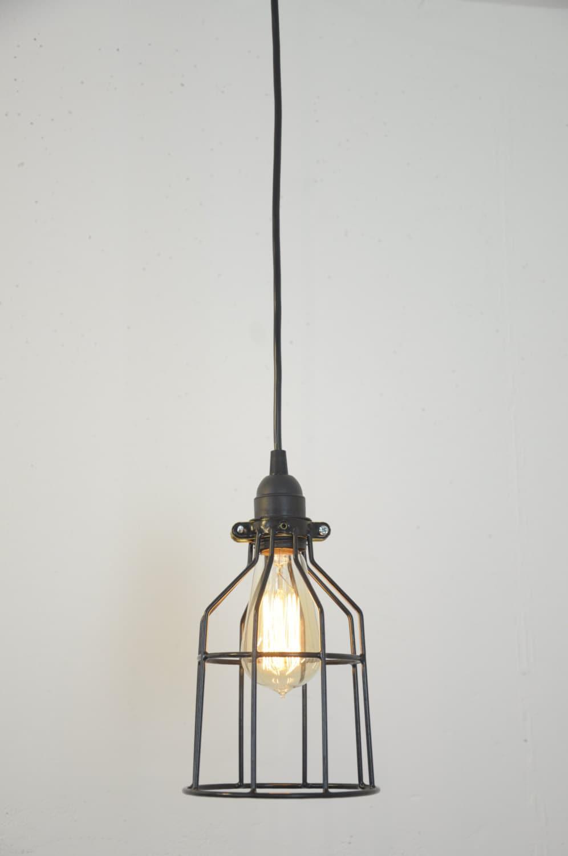 Industrial light pendant light hanging lamp bulb guard cage industrial light pendant light hanging lamp bulb guard cage pendant edison bulb lamp industrial decor plug in light rustic aloadofball Images