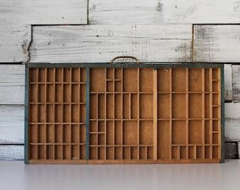 Printer's Drawer / Antique Printer's Tray / Vintage Shadowbox / Vintage Letterpress Drawer / Small Printer's Drawer / Up-cycling Drawer