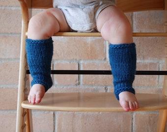 Baby leg warmers | knee high knitted socks | fair trade handspun wool
