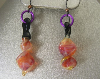 Boro Lampwork Glass Earrings  (ES22)