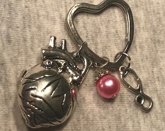 Anatomy Human Heart Key Ring/Purse Charm