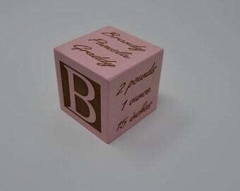 Personalized Baby Block / New Baby Gift / Newborn Baby Gift / Personalized Baby Gift / Newborn Gift / Wooden Baby Block / Nursery decor