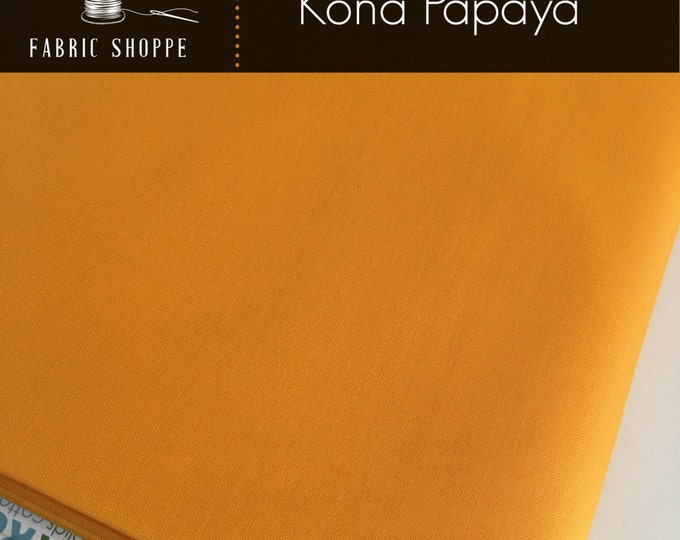 Kona cotton solid quilt fabric, Kona PAPAYA 149, Kona fabric, Solid fabric Yardage, Kaufman, Orange fabric, Choose the cut