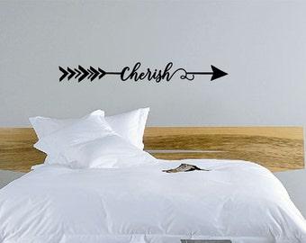 Arrow Cherish Wall Decals - custom colors - Wall Decals  - Vinyl Arrow