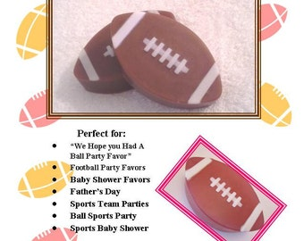 Set of 10 Football Soaps, Football Fantasy Soap Favor, Ball Favors, Sporty Party Favor, Bulk Football Favors, Football Favor, Football Party