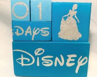 Disney Countdown Block Set - Cinderella Edition