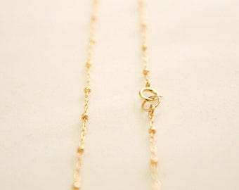 Finished 14k Gold Filled Satellite Chain - Choose Your Length - Satellite Necklace with Spring Clasp - 1.8mm Ball Width Cable Chain / FC-007