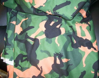 "Camouflage Sports Jersey Knit Extreme Skate Board Fabric 60"" Wide  Sold by the Yard"