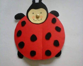 card Ladybug red and black set of 10
