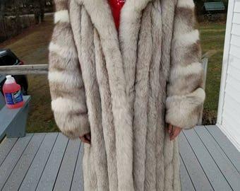 Full Length Silver Fox Coat  -   Affordable!!!!!