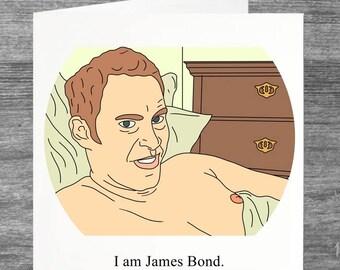Peep Show   Jeremy   Birthday card   Greetings card   I am James Bond
