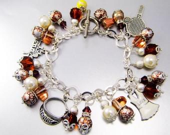 Chocolate Lover's Tennis Charm Bracelet