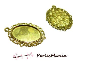 2 support of retro 18 by 25 H15257 pendant Golden for jewelry making