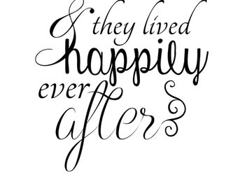 Instant Download Love Word Art Overlay And They Lived Happily Ever After