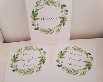 Eucalyptus Leaf Wreath Prints