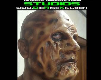 "Burn Victim Full Face Latex Prosthetic ""BURNY"" created by DRK Studios"