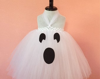 Ghost costume, ghost dress, ghost tutu dress, Halloween dress, Halloween tutu, gift for girls, baby ghost dress