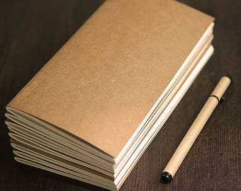 Standard Notebook Refill | Midori Traveler's Notebook Insert | Lined, Squared, Doted, Kraft, Blank, Daily, Weekly, Monthly