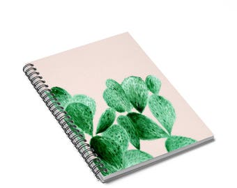 Pink Cactus Notebook, cactus notebook, cactus journal, pink notebook, pink journal, succulent notebook, succulent journal, blush notebook