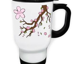 Cherry Blossom Tree Stainless S Travel 14oz Mug p189t