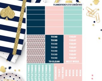 "Anchors Away Collection ""Washi"" and Section Header Planner Stickers! KT493"