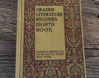 Antique School Book Literature Reader Graded Readers Eighth Book 1901 Antique Teachers