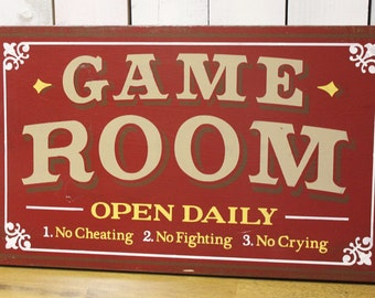 Gamer Man Cave Gifts : Game room sign personalized man cave christmas gift you choose