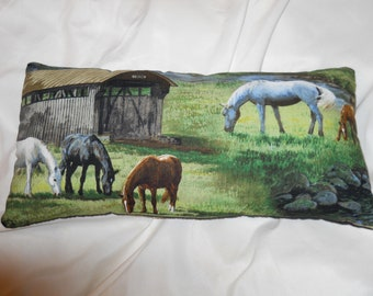 Grazing Horses Pillow (small)