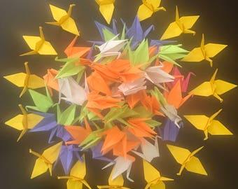 100 Paper Origami Cranes