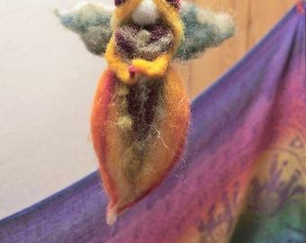 autumn fairy hanging wool natural waldorf inspired