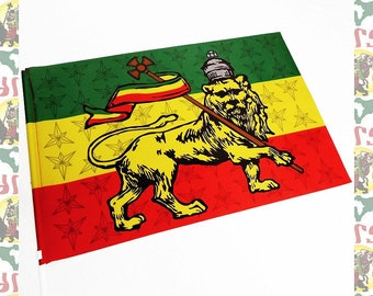 Lion of Judah [drs]Hand Flag (roots reggae dub rastafari africa ethiopia jamaica haile selassie i)