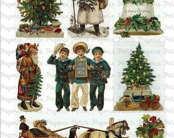 Victorian Christmas Digital Download Collage Sheet B