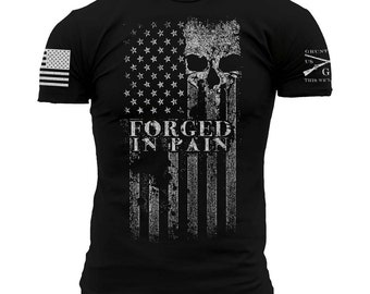 FORGED IN PAIN-Grunt Style graphic t-shirt