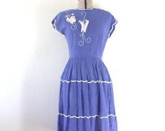 Butterfly Dress Vintage 1950s Vicky Vaughn