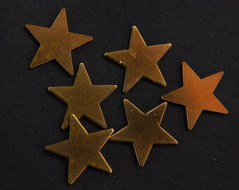 6 Copper Stars, 17mm