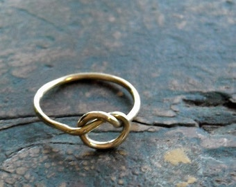 Love Me Knot Gold Ring- Free Shipping