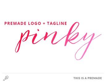 Pinky - Hot Pink Premade Logo / Blog Header Design / Premade Blog Header / Minimalist Logo / Minimal Logo / Feminine Logo