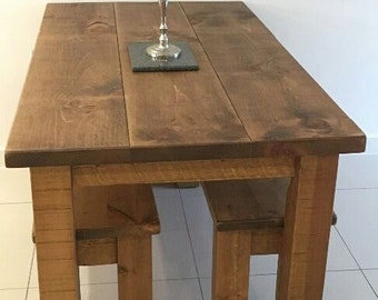 Rustic plank furniture new real solid wood chunky indigo plank rustic plank furniture new real solid wood chunky indigo plank furniture dining table and benches set watchthetrailerfo