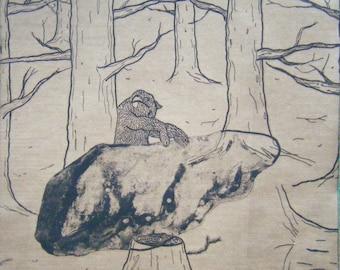 Mummelsee III – original etching on paper