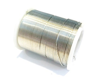 24 gauge wire, tarnish resistant, artistic wire, silver plated wire, 24 yards, craft wire, wire spool, destash jewelry making, wire wrapping