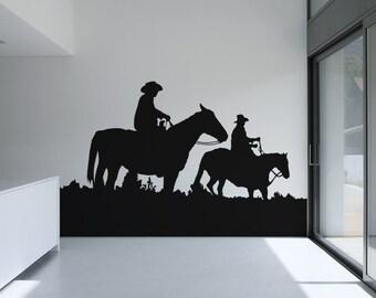 Vinyl Wall Decal Sticker Horseback Riding OSAA439s